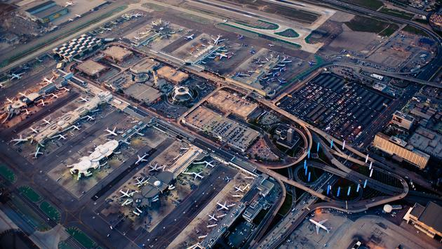Overhead view of Los Angeles International Airport, LAX