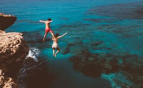Cliff Jumping into the Ocean