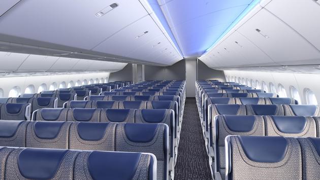Boeing 777X cabin rendering