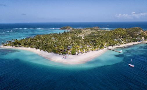 Aerial view of Palm Island Resort & Spa in The Grenadines, Elite Island Resorts