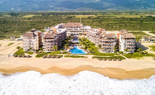 aerial view of Vivo Resorts near Puerto Escondido