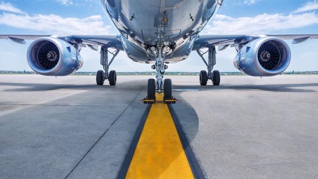 plane, engines, runway