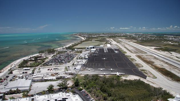 Aeriel view of Key West International Airport