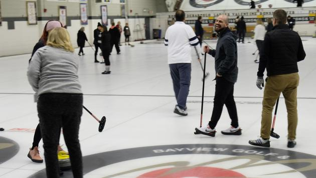 Big Smile at the CWT Curling Event in Toronto