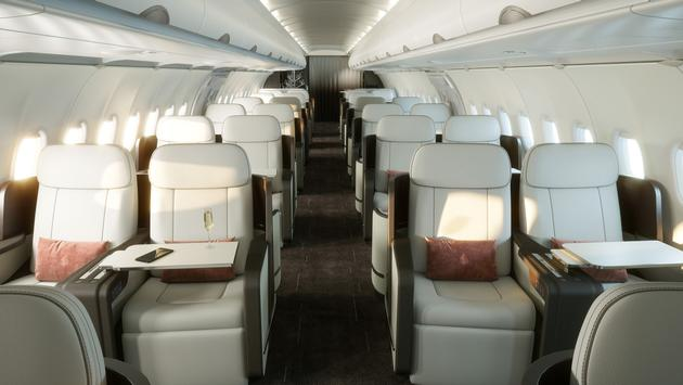 The new Four Seasons Private Jet will offer the widest and tallest cabins in its class