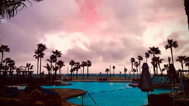 Sunset at Waterfront Beach Resort