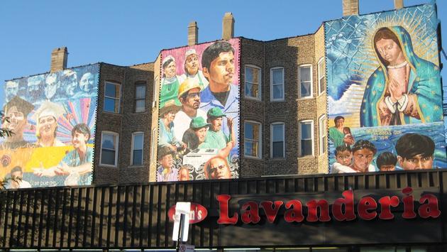 Pilsen, Hispanic, Latino, Mural, Chicago