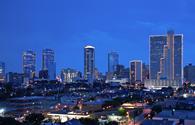 Evening skyline of Fort Worth, Texas.