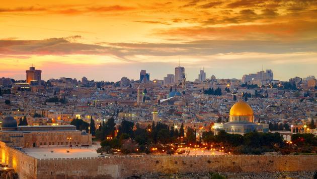 View towards Jerusalem.