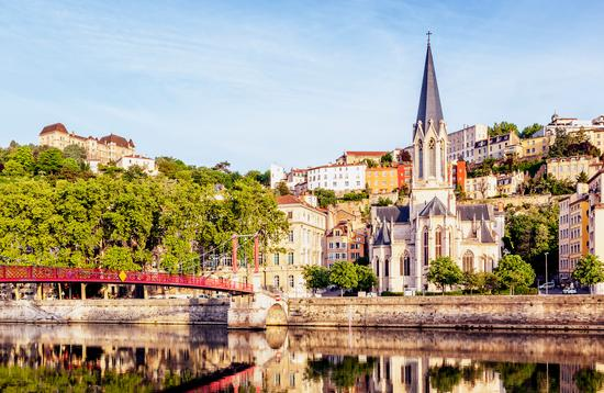 Panoramic view of Lyon, France.