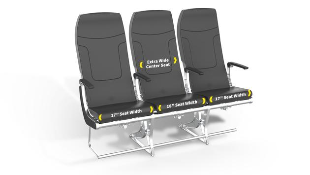 New Spirit Airlines seat design, planned for November 2019.