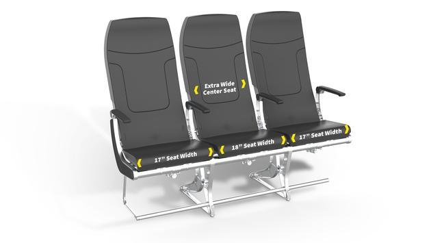New Spirit Airlines seat design, planned for November 2019.