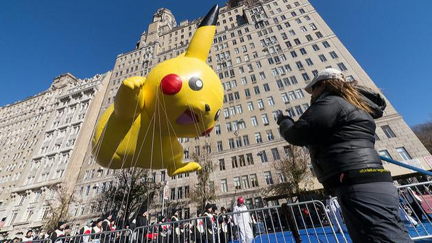 Pikachu balloon, Macy's Thanksgiving Day Parade in New York City
