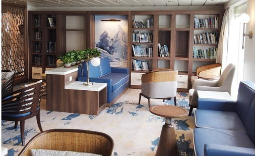Library and multimedia room, Greg Mortimer, Aurora Expeditions