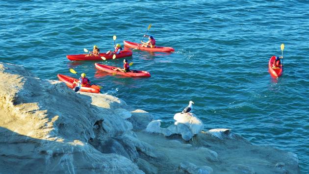 Kayaking La Jolla Caves