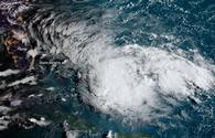 2019 Tropical Storm Humberto over the Bahamas.