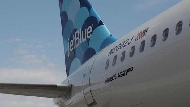 JetBlue's first Airbus A321neo, named after its founder, David Neeleman.