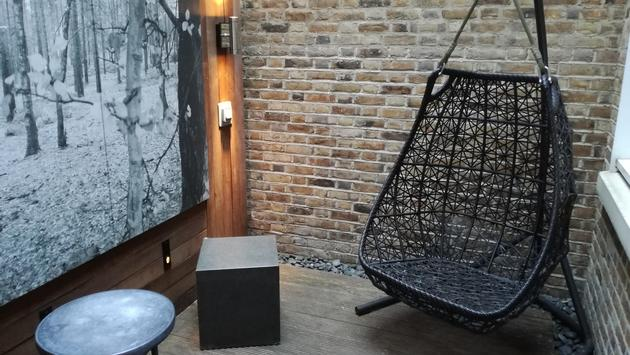 Cool courtyard chair at The Arch London