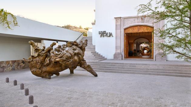 The entrance to the Live Aqua Urban Resort San Miguel de Allende