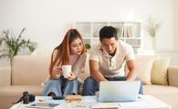 Couple looking online