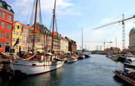 Canal district of Nyhavn (New Harbor) in Copenhagen