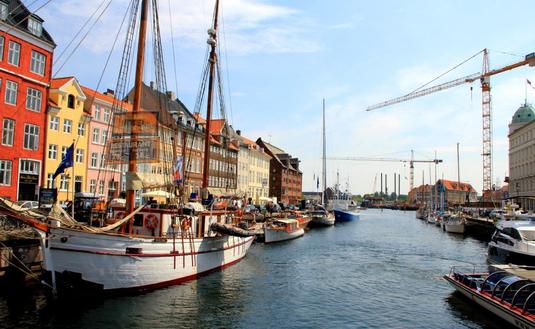 Canal district of Nyhavn (New Harbor) in Copenhagen