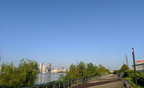Crescent Park, New Orleans, running and biking paths