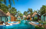 Swim-Up Rondoval Suites at Sandals South Coast, Jamaica.