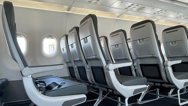 Frontier's Recaro seats.