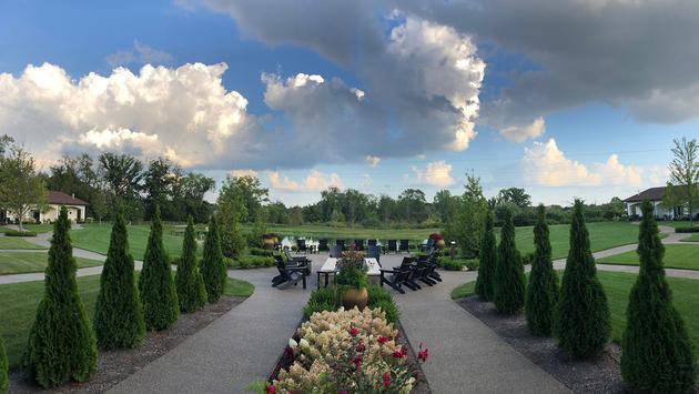 Gervasi Vineyard courtyard