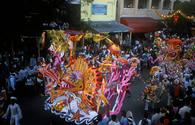 A Bahamas Junkanoo parade in full swing