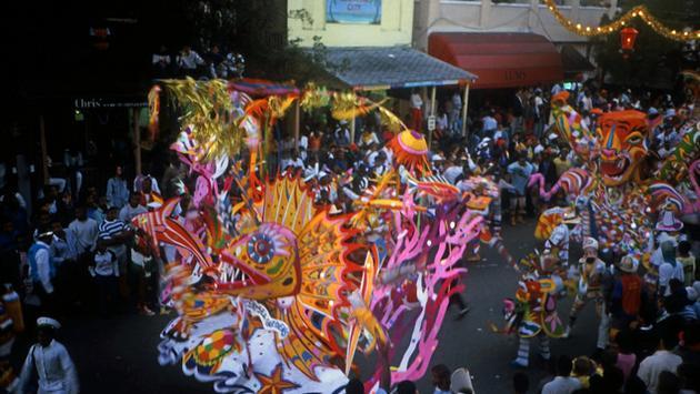 A Bahamas Junkanoo parade in full swing
