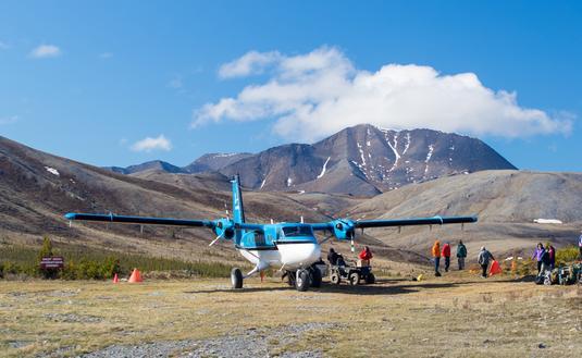 Plane at Ivvavik National Park