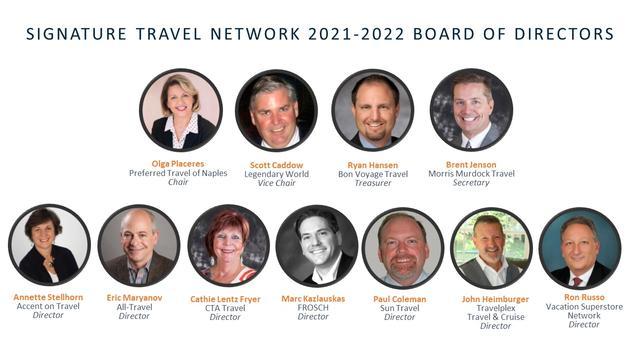 Signature Travel Board of Directors 2021-2022