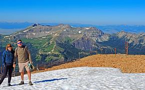 Summit of Big Sky's Lone Peak - montana