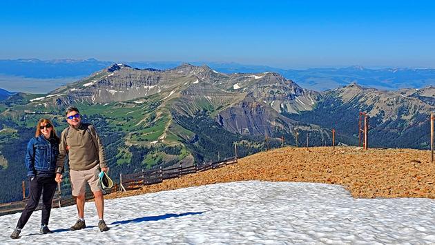 Summit of Big Sky's Lone Peak - montana