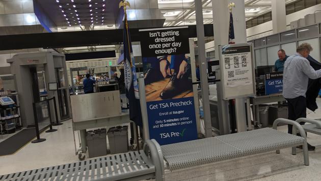 TSA Pre-Check Airport Security Line