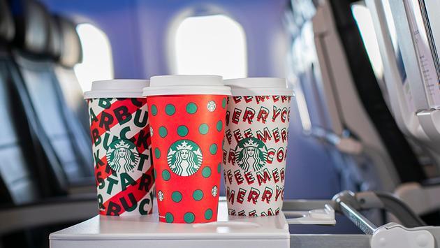 Alaska, Airlines, Starbucks