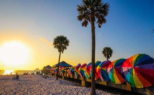 Vibrant colors of Clearwater beach, Florida
