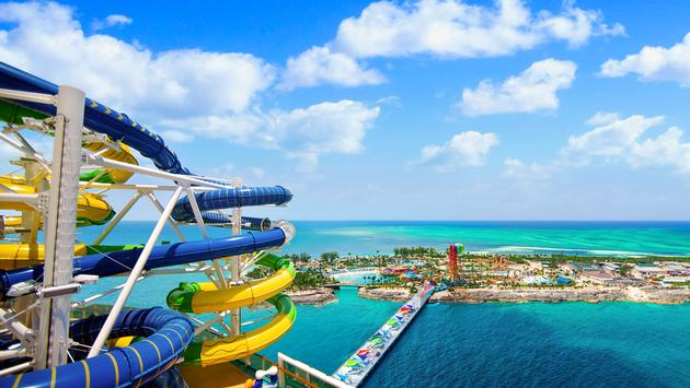 Royal Caribbean's Adventure of the Seas at Coco Cay