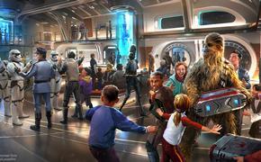 Walt Disney World's Star Wars Hotel Galactic Starcruiser Atrium