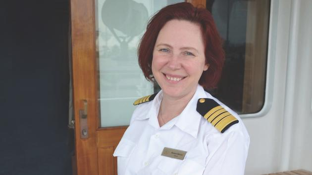 Captain Serena Melani of Regent Seven Seas Cruises