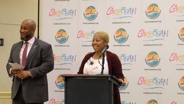 Rodney Skelton and Sharon Flux-Brutus, BVI Tourism