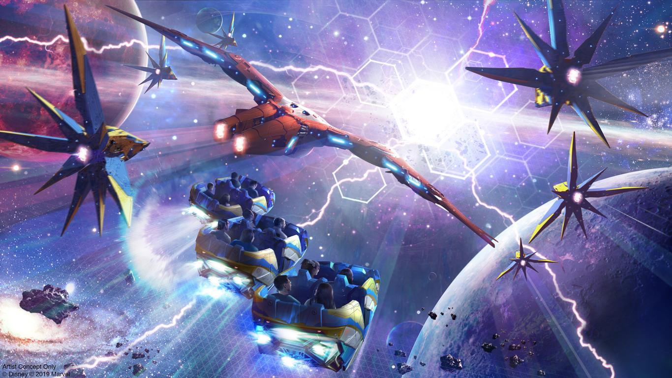 WATCH: Disney Unveils First Look at Guardians of the Galaxy: Cosmic Rewind Vehicles