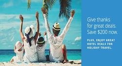 Holiday Getaway Sale: Save $200 Now