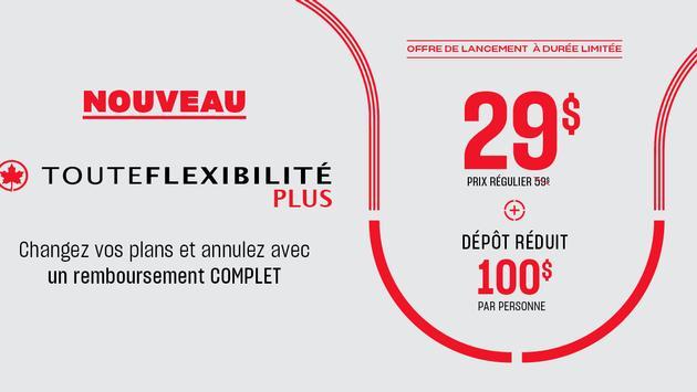Solution TouteFlexibilitéPlus, Vacances Air Canada