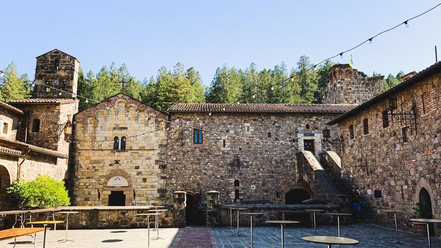Central courtyard of Castello di Amorosa