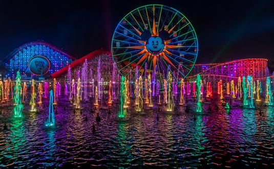 World of Color at Pixar Pier in Disneyland