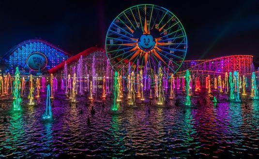 World of Color at Pixar Pier in Disneyland