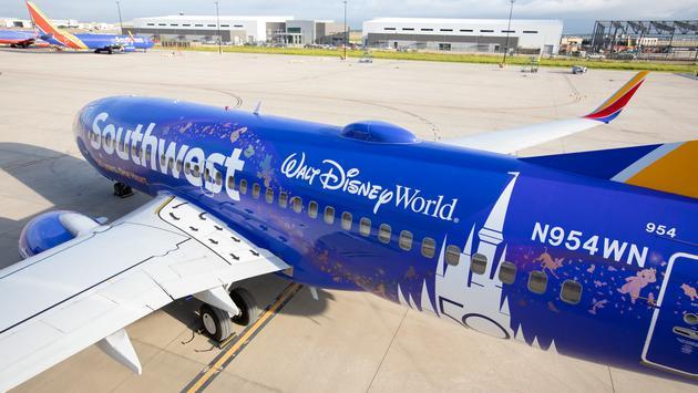 Southwest's Disney World livery.
